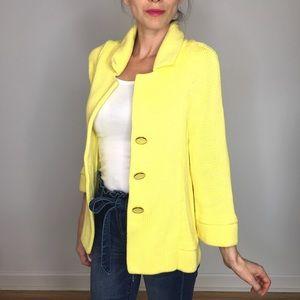 Banana Republic Yellow Cardigan Sweater Jacket.